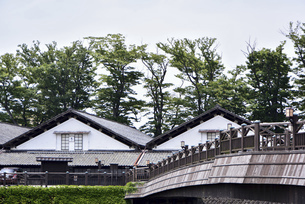 山形県酒田市 山居倉庫の写真素材 [FYI04769528]