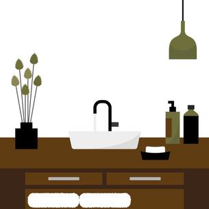 シンプルな洗面所 イラストのイラスト素材 [FYI04769798]