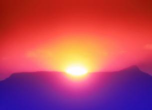 半過岩鼻から望む荒船山から昇る初日の出の写真素材 [FYI04769903]