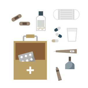 救急箱と中身 イラストのイラスト素材 [FYI04770004]