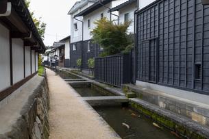 瀬戸川と白壁土蔵街の写真素材 [FYI04770031]