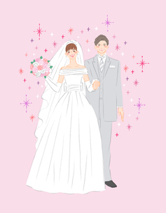 ウェディングドレス結婚式イラスト1のイラスト素材 [FYI04770178]