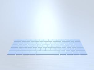 ステンレス板に埋め込まれた半透明なキーボードのイラスト素材 [FYI04770580]
