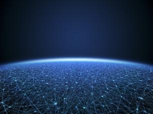 無限に広がるネットワーク空間のイラスト素材 [FYI04770591]
