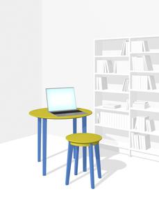 一室でリモートワークのイラスト素材 [FYI04770612]