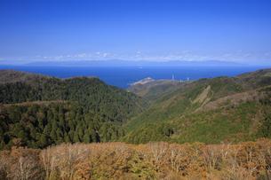 眺瞰台より望む竜飛崎と北海道の写真素材 [FYI04770888]