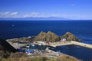 帯島と津軽海峡と北海道の写真素材 [FYI04770901]