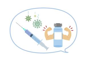 ウイルス撃退するワクチンのイラスト素材 [FYI04771021]