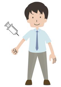 注射をうける人のイラスト素材 [FYI04771028]