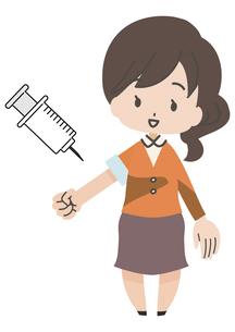 注射をうける人のイラスト素材 [FYI04771029]