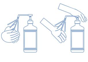 シンプルなアルコール消毒セットのイラスト素材 [FYI04771048]