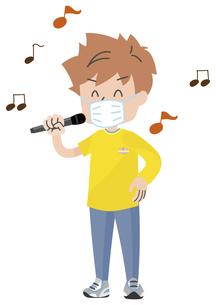 マスクをして歌う人のイラスト素材 [FYI04771050]