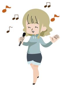 歌う人のイラストのイラスト素材 [FYI04771051]