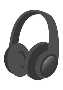 シンプルなヘッドホンのイラスト素材 [FYI04771054]