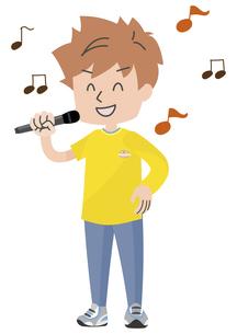歌う人のイラストのイラスト素材 [FYI04771055]