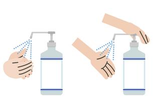 シンプルなアルコール消毒セットのイラスト素材 [FYI04771060]