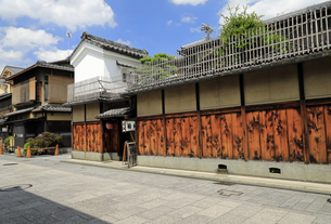 6月 祇園の花見小路の写真素材 [FYI04771275]