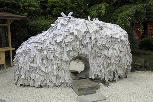 6月 安井金毘羅宮の縁切り縁結び碑の写真素材 [FYI04771287]