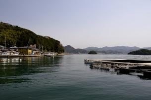 舞鶴湾,カキ養殖筏の写真素材 [FYI04771502]
