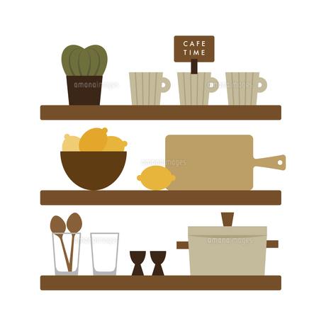 キッチンの棚 イラストのイラスト素材 [FYI04771665]