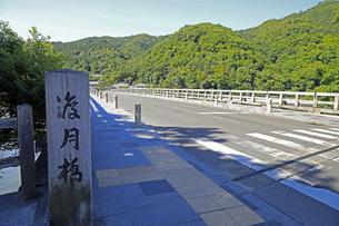 6月 新緑の嵐山渡月橋の写真素材 [FYI04771704]