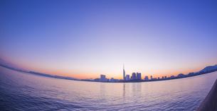 福岡県 風景 百道浜朝景の写真素材 [FYI04771801]