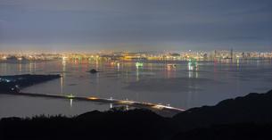 福岡県 風景 博多湾朝景 百道浜方面遠望の写真素材 [FYI04771826]