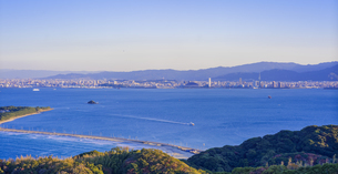 福岡県 風景 博多湾夕景 百道浜方面遠望の写真素材 [FYI04771833]