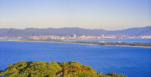 福岡県 風景 博多湾夕景 西戸崎 香椎浜方面遠望の写真素材 [FYI04771837]