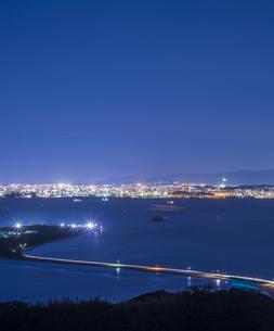 福岡県 風景 博多湾夕景の写真素材 [FYI04771846]