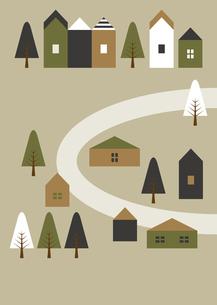 街と道路 イラスト 緑のイラスト素材 [FYI04772056]