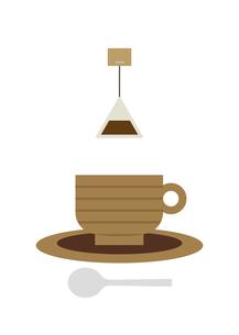 ティーカップとティーバッグ イラストのイラスト素材 [FYI04772102]