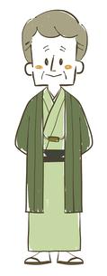 着物の年配男性-全身のイラスト素材 [FYI04772315]