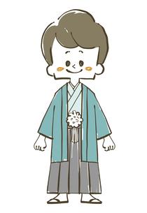 袴姿の男の子-全身のイラスト素材 [FYI04772317]