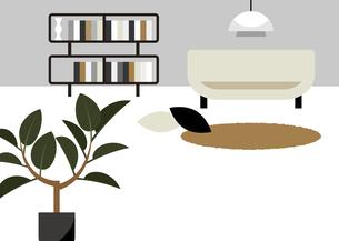 ソファーと観葉植物 イラストのイラスト素材 [FYI04772336]