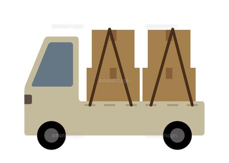 ダンボールを積んだトラックのイラスト素材 [FYI04772337]