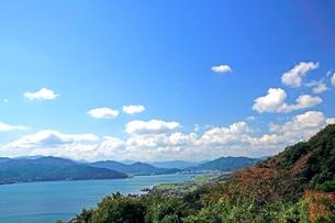 京都府宮津市  傘松公園から見る秋の宮津湾の絶景の写真素材 [FYI04772460]