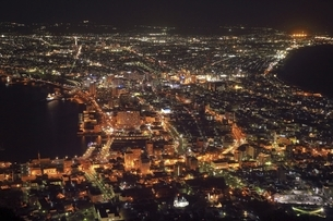 函館市街夜景の写真素材 [FYI04772492]