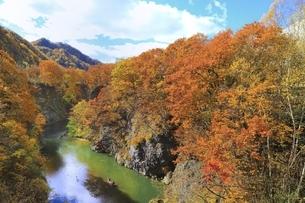 紅葉の定山渓の写真素材 [FYI04772550]