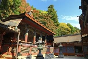 紅葉の談山神社の写真素材 [FYI04772628]