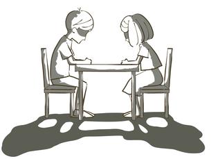 絶望する男女-夫婦・カップルのイラスト素材 [FYI04772653]