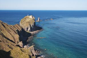 神威岬と神威岩の秋の写真素材 [FYI04772705]