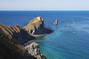 神威岬と神威岩の秋の写真素材 [FYI04772713]