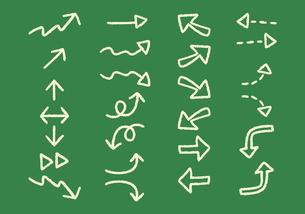 手描き 矢印のイラストセット チョークアート風のイラスト素材 [FYI04772785]