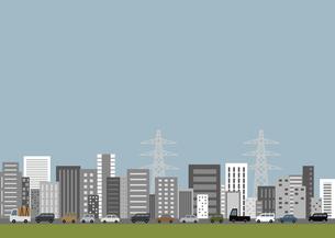 街並 渋滞 車社会 都会のイラスト素材 [FYI04773548]