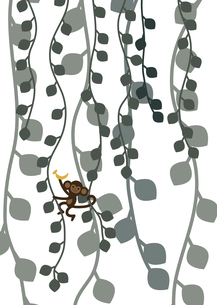 サル つた グリーン イラストのイラスト素材 [FYI04773558]