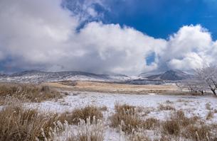 熊本県 阿蘇の雪景色の写真素材 [FYI04773582]