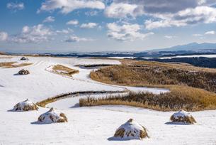 熊本県 阿蘇の雪景色の写真素材 [FYI04773612]