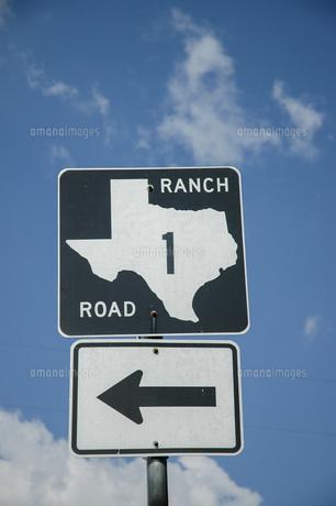 テキサスの州道1号線の道路標識の写真素材 [FYI04773853]