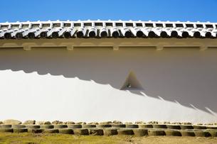 新生姫路城の土塀の写真素材 [FYI04773969]